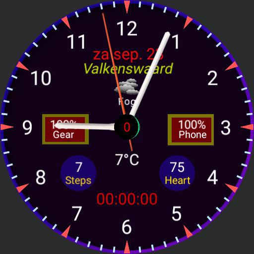 Watch with stopwatch weather location pressure heartrate steps