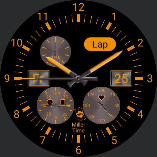 Orange stopwatch lap timer V1.6