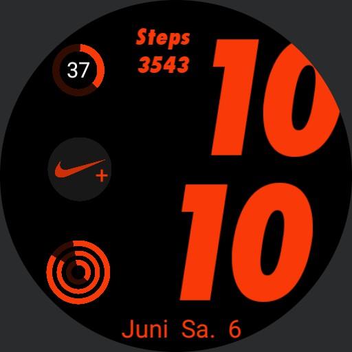 apple watch face type Nike sports Copy