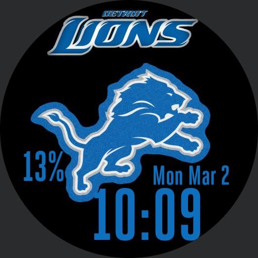 Detroit Lions blue