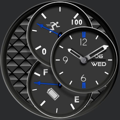 Simple Black 3 dial