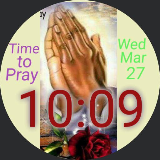 prayer and rose