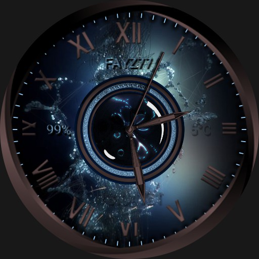 Electric watch face.