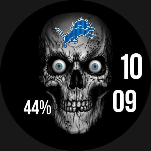 Detroit lions skull horror