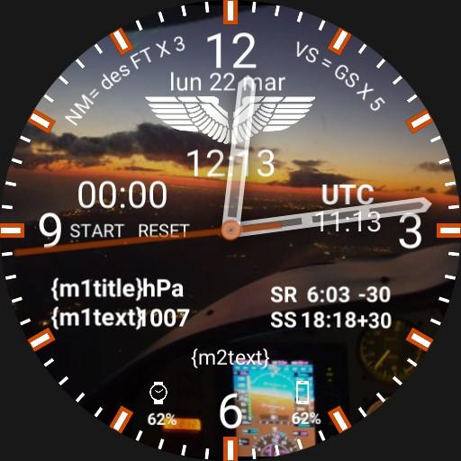 Aviation Pilot Watchface SUNRISE