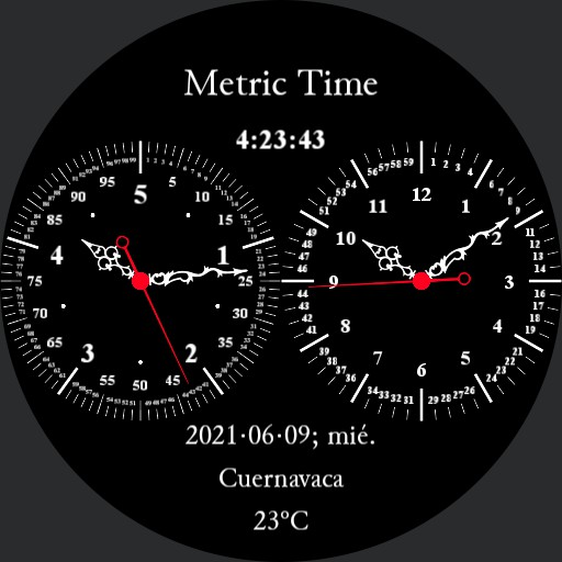 Double Dial 5h Decimal Time Watch