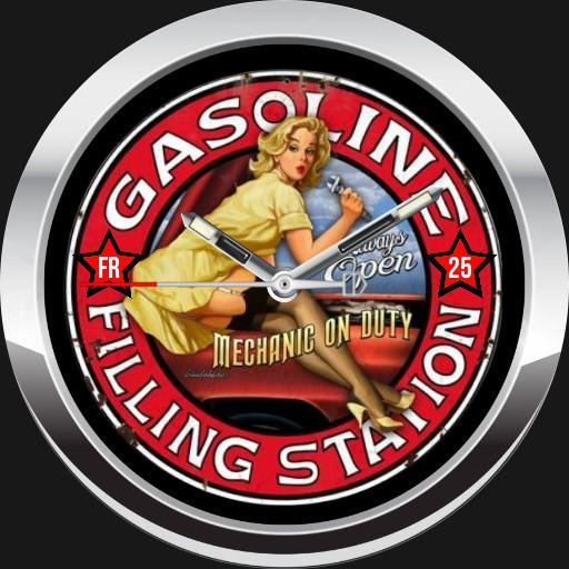 GASOLINE PIN-UP WATCH