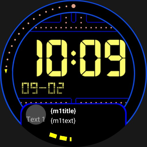 Ticwatch Pro Pacman with notifications