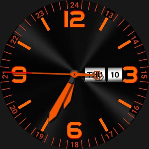 Orange on black. high visibility v2
