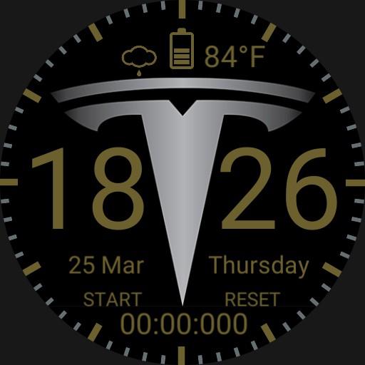 Tesla Logo Titanium