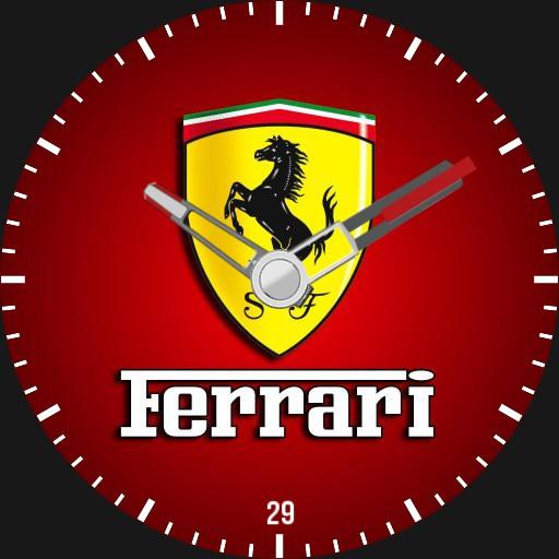 Kirans Ferrari watch face