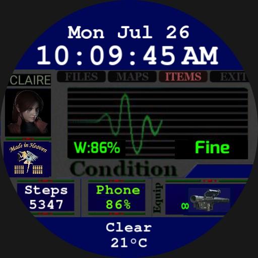 RE2 Menu Claire