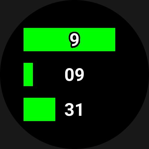 Progress Bar Decimal Time Watch