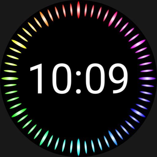 Fun  Rainbow Digital Watch Face