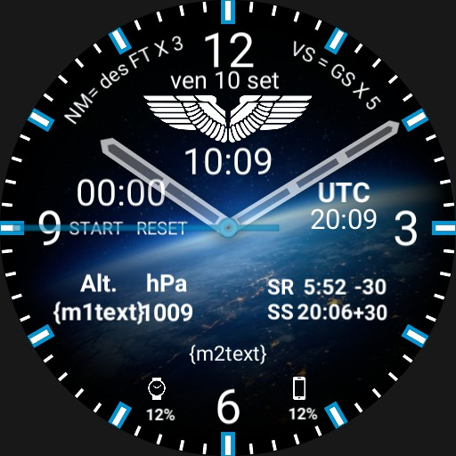 Aviation Pilot Watchface Privato