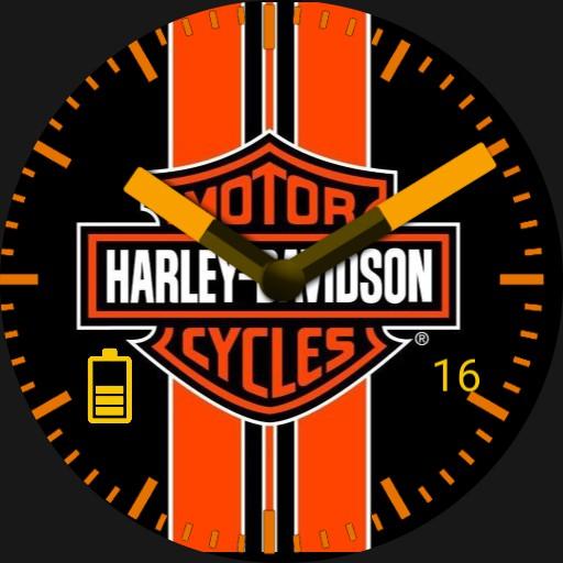 Harley Davidson orange stripes