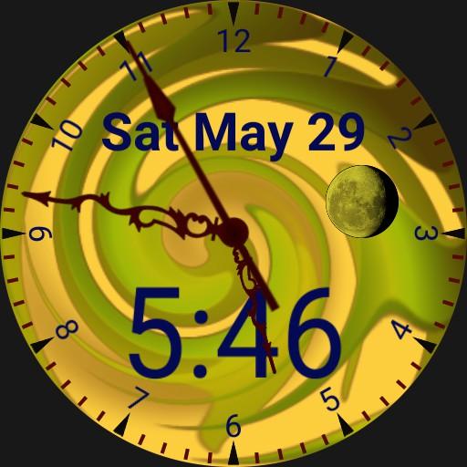 watch in green