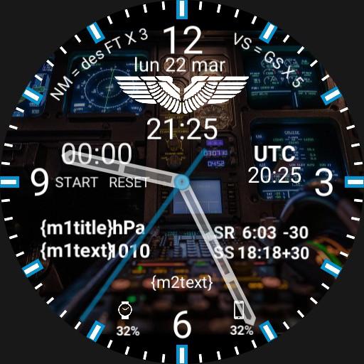 Aviation Pilot Watchface AIRBUS COCKPIT
