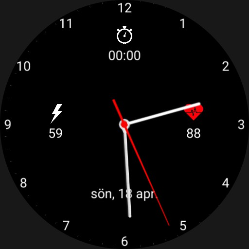 Stylish watch with information