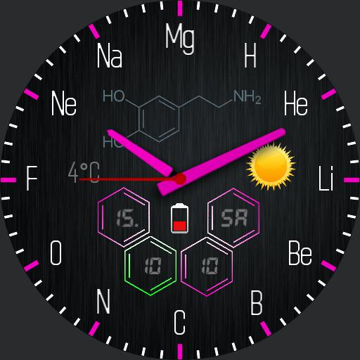 Chemical elements themeable with stopwatch