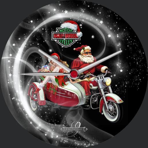Harley Davidson Christmas 3fach Dim nach Tageszeit