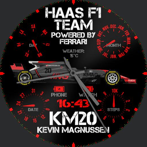 Analog kmag and haas f1 fan watch