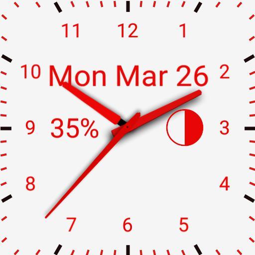 red watch white background