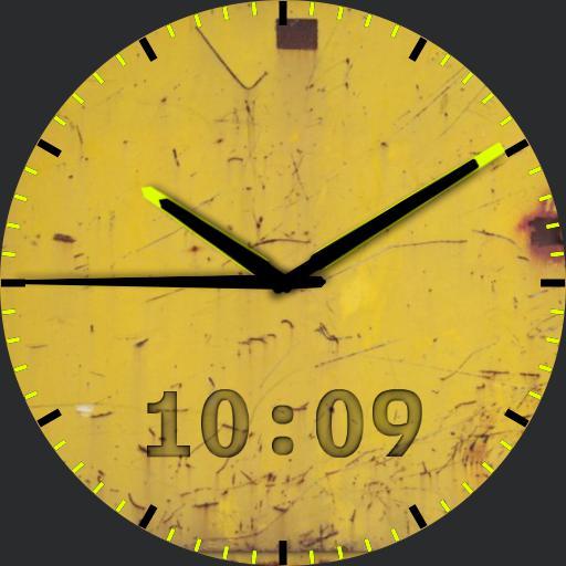 yellow grunge analog