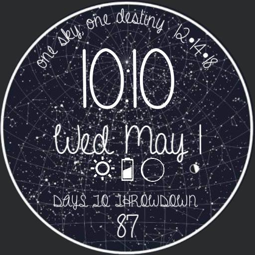 wedding constellation w/ countdown