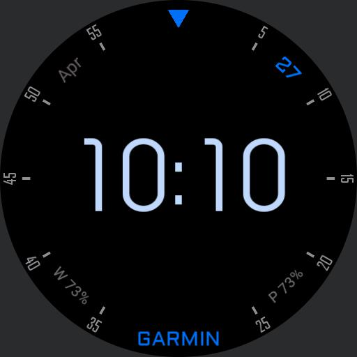 Garmin Blue Day Thin dark