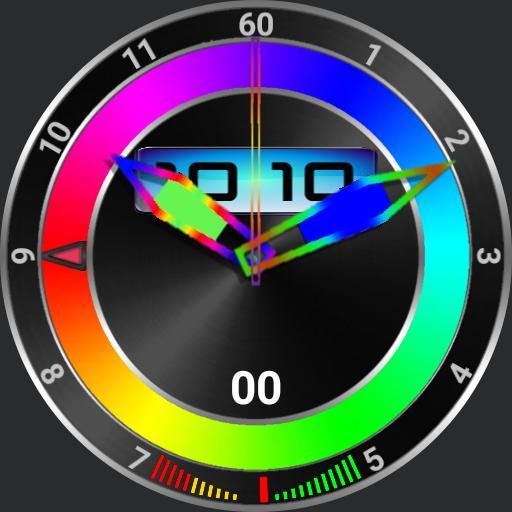 muti-coloured stopwatch