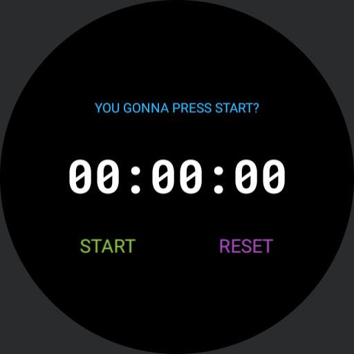 Stopwatch Running Text