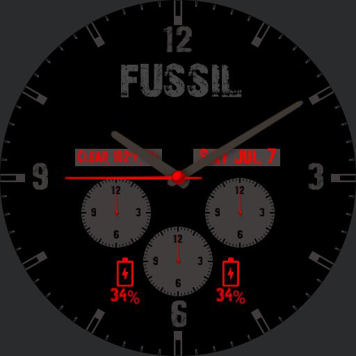 fussil watch red next