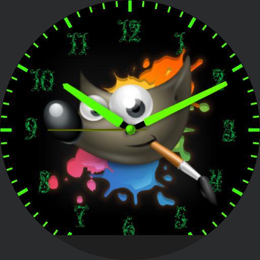 Gimp Clock