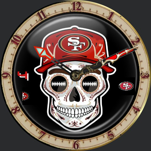 49ers Skull and Hat