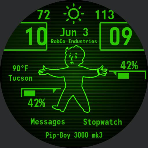 Shameless battery friendly update to pipboy mk3 all credit goes to them