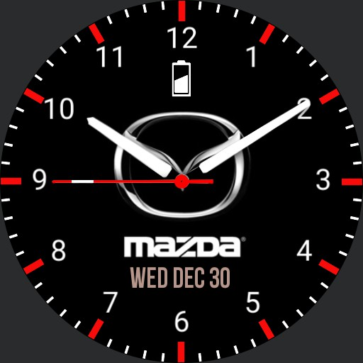 Mazda dial watch face Copy. red