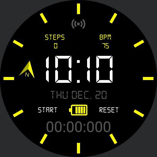 Yellow Stopwatch
