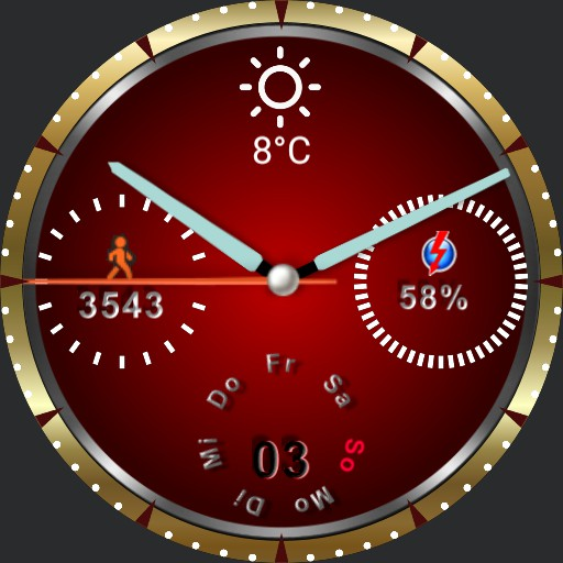 Ticwatch Pro red-gold