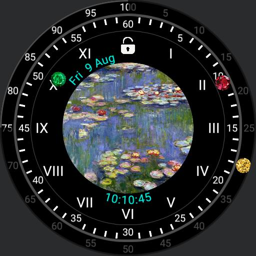 AW Monet art 4 screens and 4 app launcher for Samsung Galaxy smartwatch