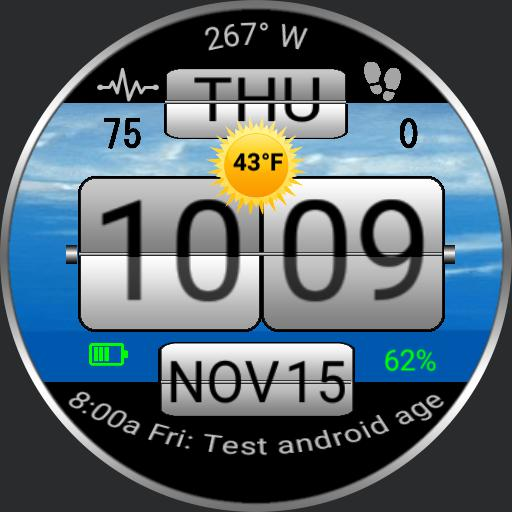 Sense Flip Clock DIGITAL ver 2.0 HTC Multi Bkg