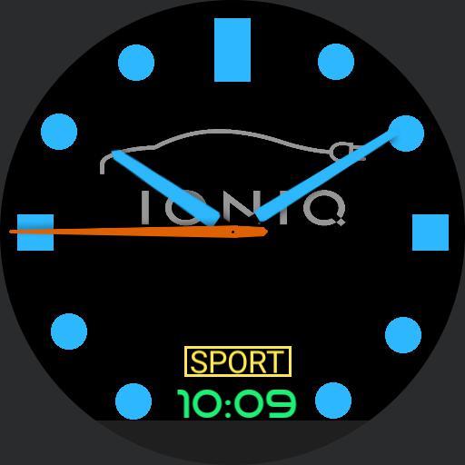 sport blue ioniq hyundai