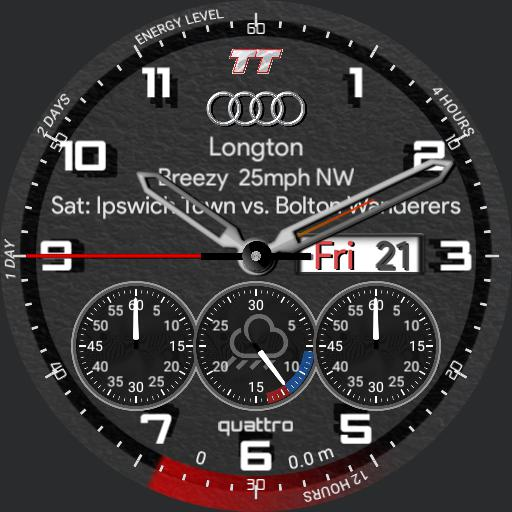 Audi TT with stopwatch