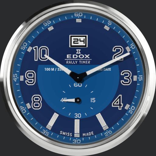 Edox WRC Rally Timer - Big Date 64009 V2