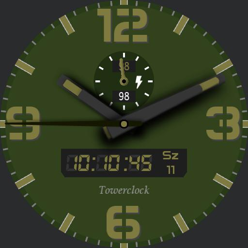 Towerclock color - green