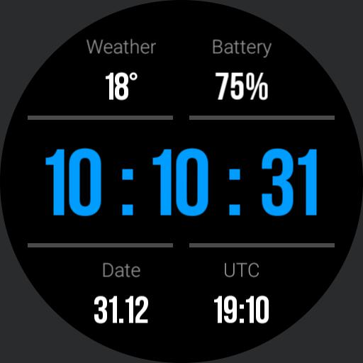Gear S3 Dashboard Blue