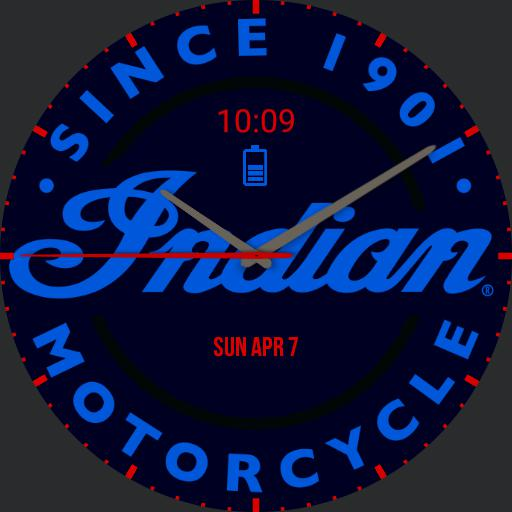 Indian Motorcycle Watch Blue