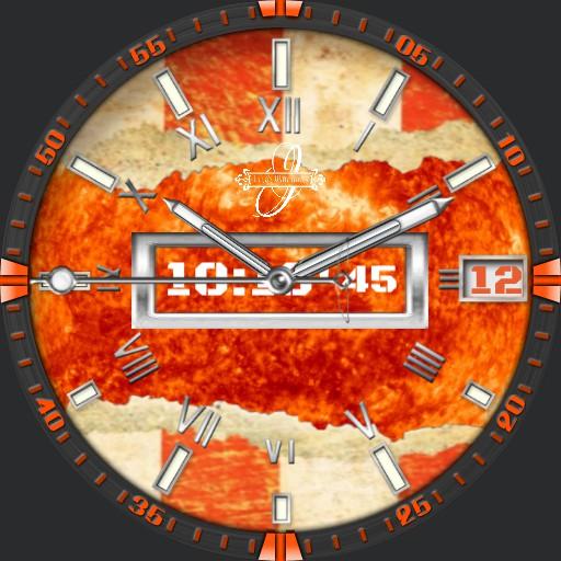 Orange Riss 1
