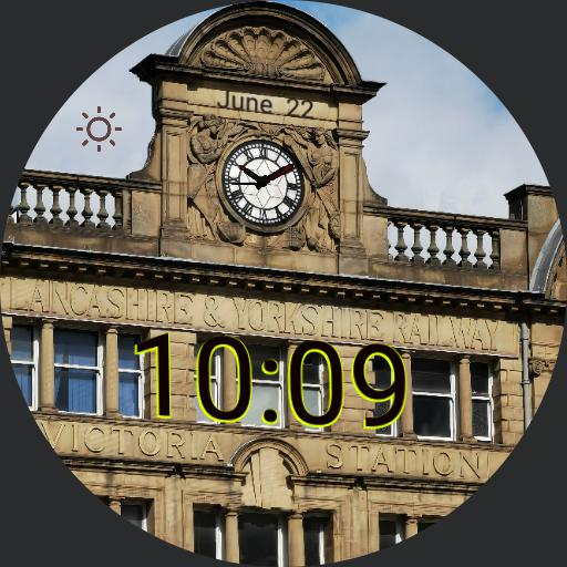 Manchester Victoria Station clock rendition