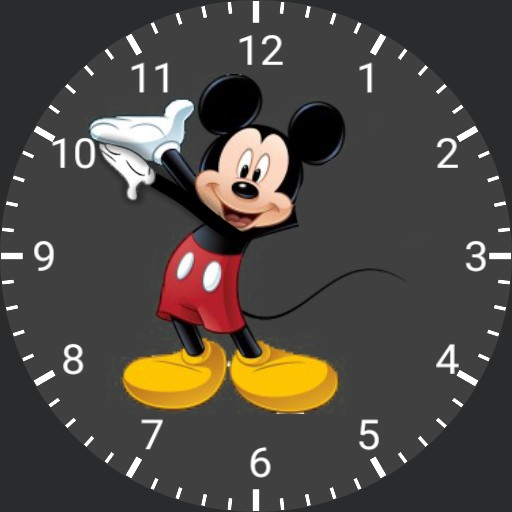 Mickey mouse moving hand
